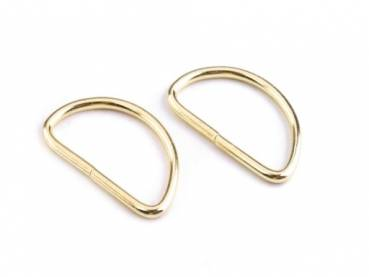 D-Ring 25x23x3,5mm Gold