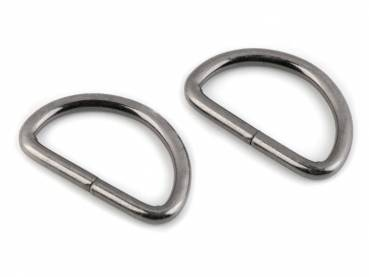 D-Ring 30x25x4mm Gunmetal