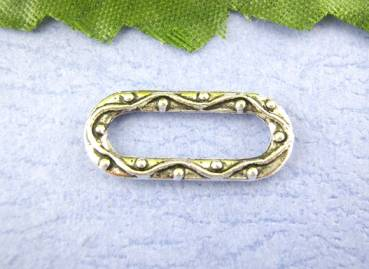 Oval-Ring 20x9mm Antik-Silberfarben