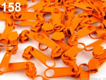 Zipper 3mm Orange 1Stck