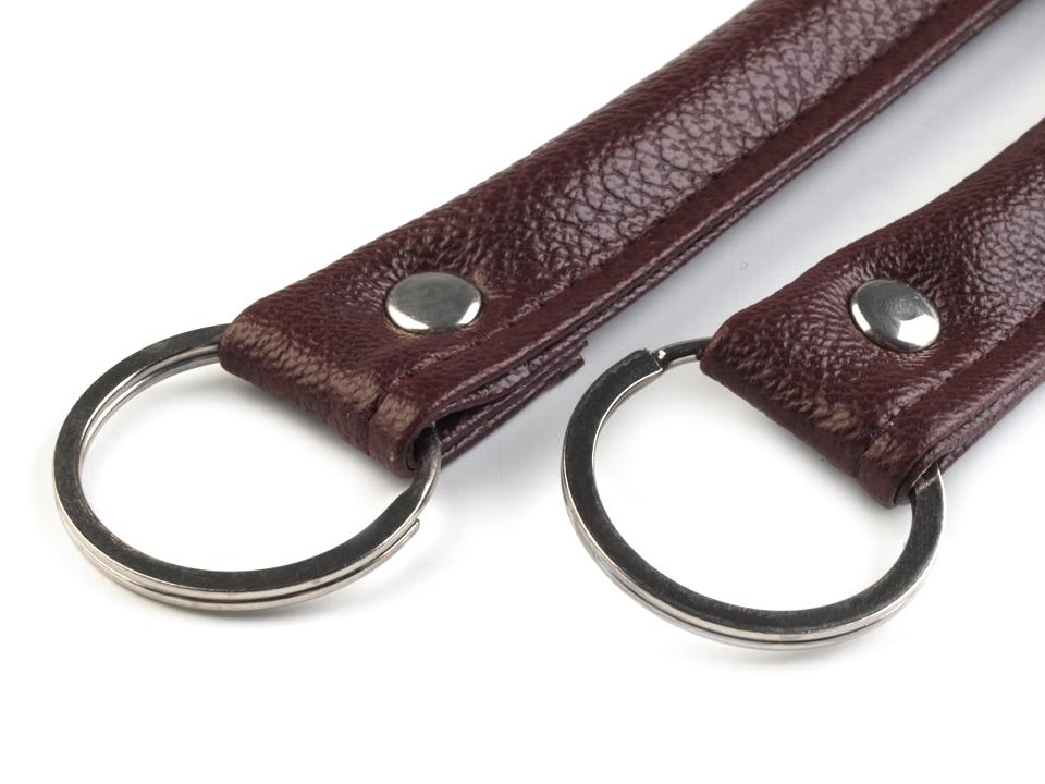 Elegante Taschengriffe aus Eko Leder 1 Paar Taschengriffe dunkel-braun