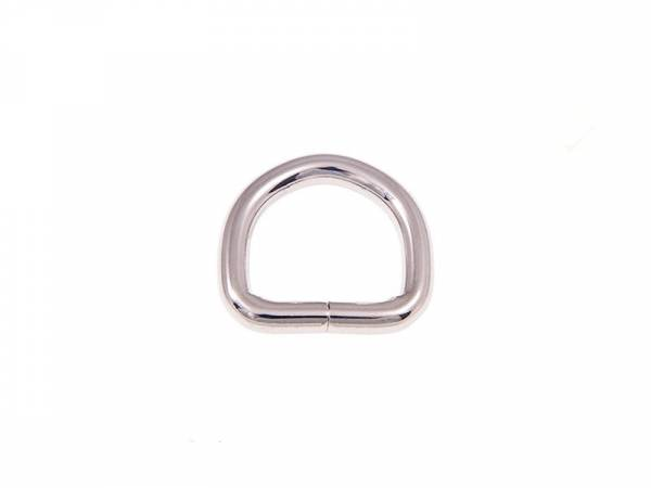 D-Ring 22x20x5mm Nickel