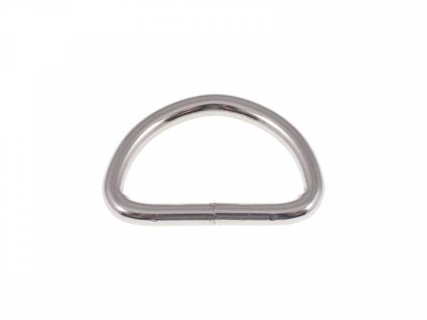 D-Ring 40x30x5mm Nickel